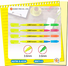 Promotional School Bulk Two Color Highlighter Marker Pen