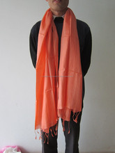 Thinning and Smoothy Silk Scarf, 100% Vietnamese Silk Handmade, orange Silk Scrafts