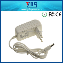 China 9 years manufacturer EU plug 5V 1.2A white and black 13v dc power adapter