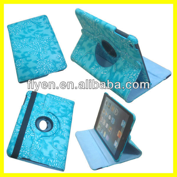 Manufacturer Wholesale Leather Rotaing for iPad 360 Case Smart Cover Stand Magnetic 2013 New