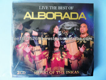 """Alborada, Live the Best of Music of the Inkas"" Andean Music set 2 Cds Peru"