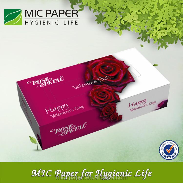 Printed facial tissue
