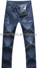 Monroo Jeans straight jeans men torn jeans