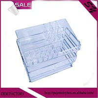 Newly developed Unique Clear color Acrylic four layers cosmetic storage box