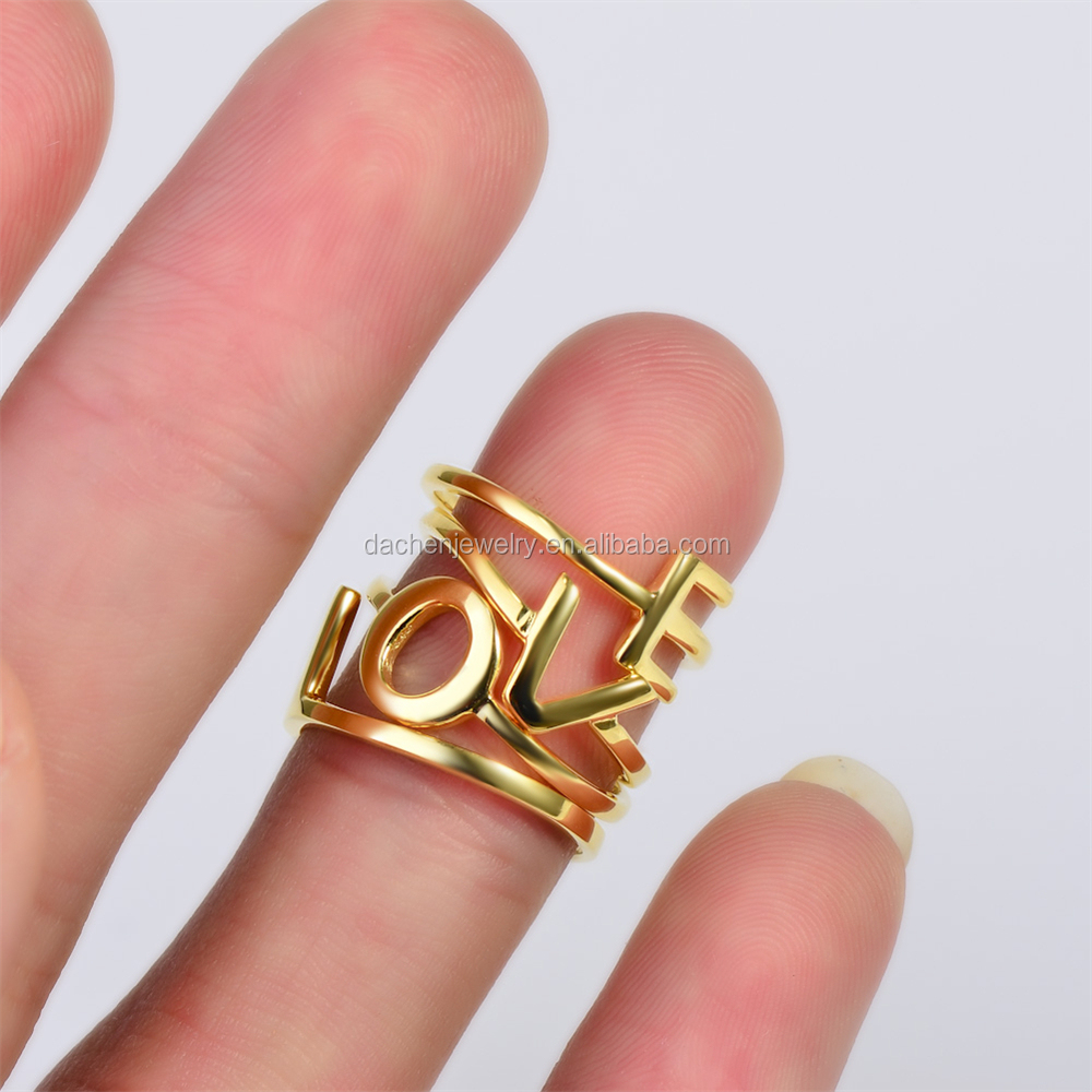 Alphabet Love Rings, Alphabet Love Rings Suppliers and Manufacturers ...