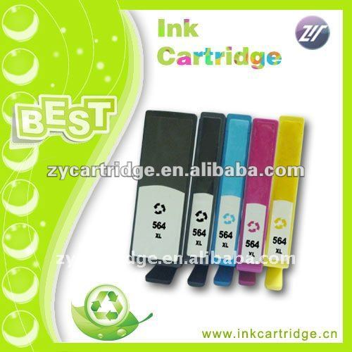 Compatible cheap HP 564 printer ink cartridge with original chip,USD 1.0-5.0