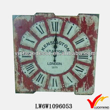 Luckywind distressed decorative wooden wall clock