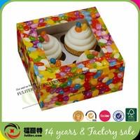 Custom cupcake box bakery packaging supplies