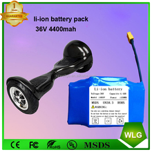 36V 4.4Ah 158wh hoverboard electric scooter lithium battery pack