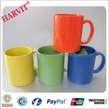 Ceramic offers /Chinese Promotional Items 11oz Streight Plain White/Red/Yellow Stoneware Mug/Wholesale coffee mug
