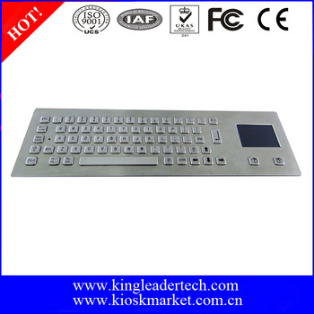 Customizable IP68 rated waterproof industrial keyboard with touchpad