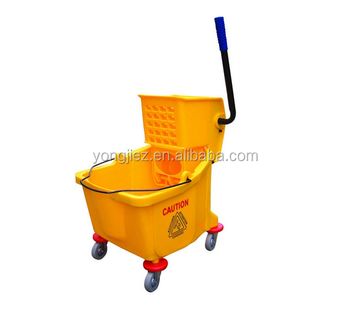 Squeeze mop bucket with wheels cleaning wringer mop bucket