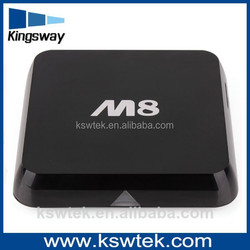 Hot sale XBMC Smart Android TV Box Quad Core Fully Loaded 5G Wifi M8 + Wireless Keyboard