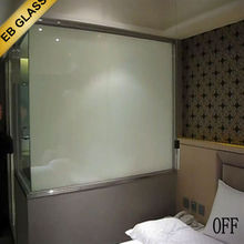 Hotel bathroom shower door smart glass ,shower door smart glass edging EB GLASS