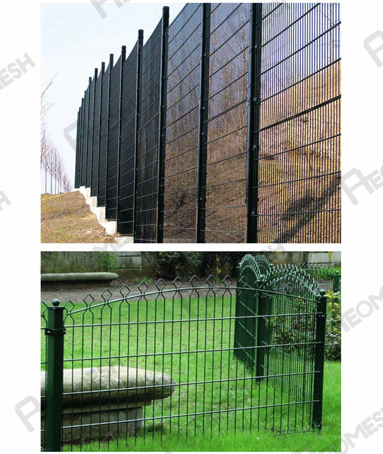 Made in Guangzhou Professional Factory ARC shape top Double Wire Fence