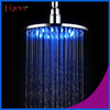 Fyeer 8 inch Round Brass Led Rianfall Shower Head Bathroom Colorful Shower Head