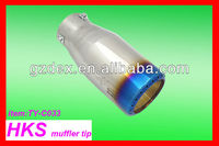 Colourful exhaust/muffler pipe of auto car