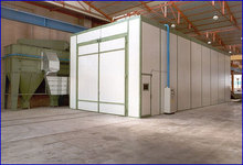 Dry painting cabinet, Surface treatment equipments, spray booth
