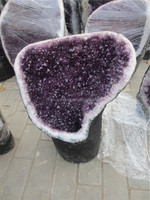 Natural large brazil purple amethyst geode for decoration, large geode for sale