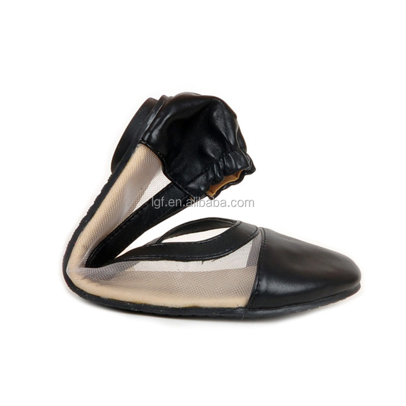 American market hot selling foldable flat ballet rollasole shoes Pretty style women roll up shoes