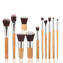 China Good Price High Quality Cosmetic Bamboo Custom Logo Makeup Brush Set Kit