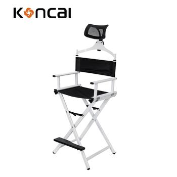 Koncai White color Makeup Chair Aluminium Director Chair Salon Chair