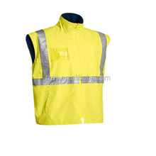 Lime Zipper Front Closure High Visibility Night Vest