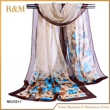 2017 New Floral Design wholesale italian silk scarves