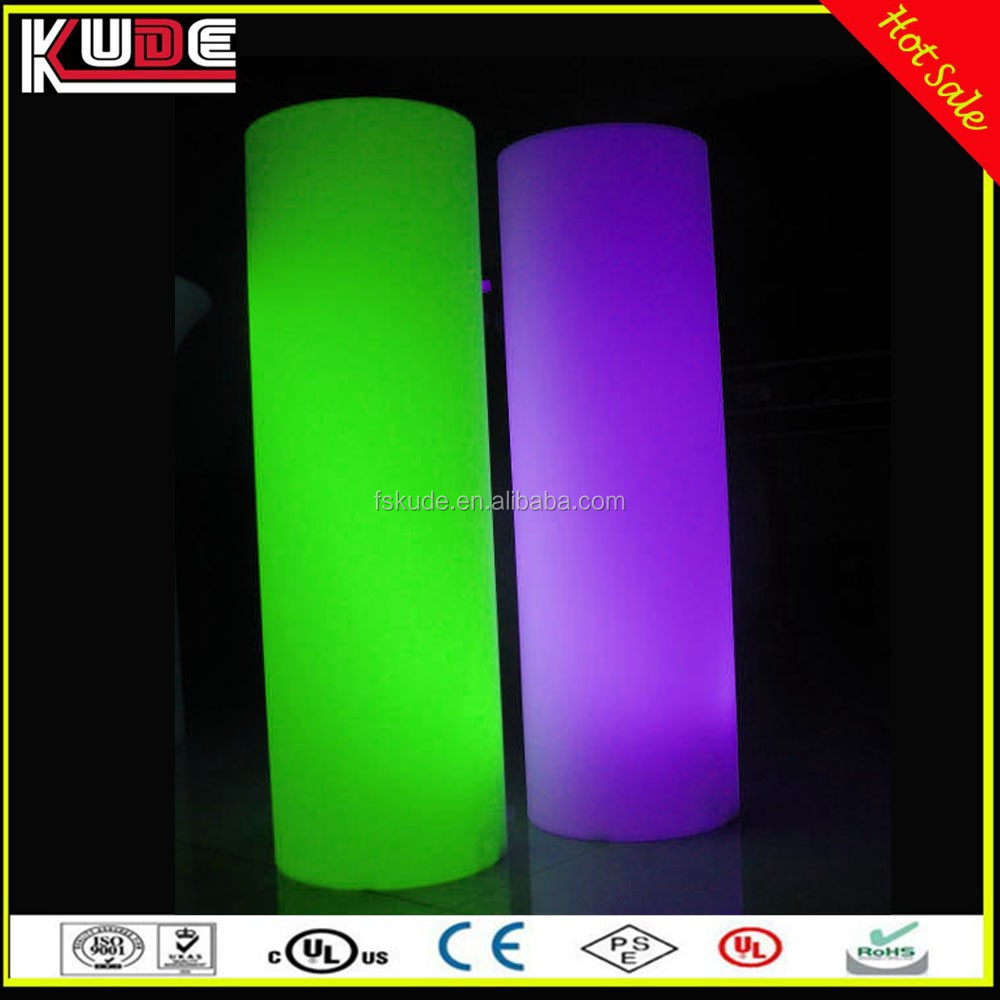 Big High LED Plastic Column For Wedding Party Event Decoration