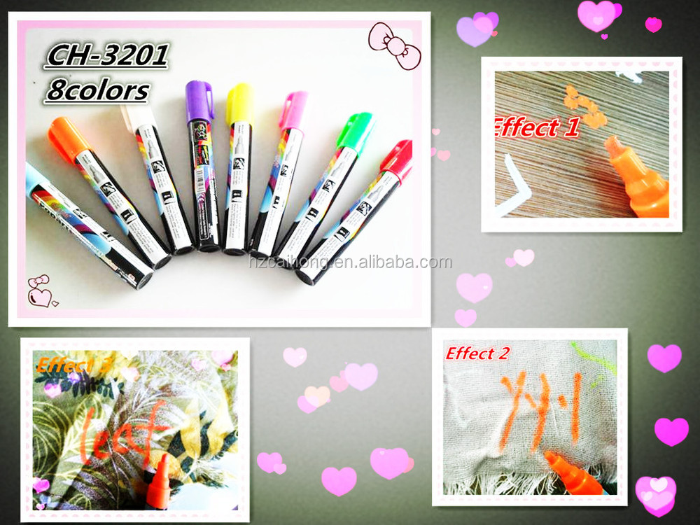 2016 Hot 6mm nib chalk spray Liquid Chalk for window and sideroad mark 8 Neon Colors eraseble wall paint chalk marker pen CH3201
