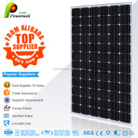 Powerwell Solar 300w 36v monocrystalline silicon pv solar panel good quality with CEC/IEC/TUV/ISO/INMETRO/CE certifications