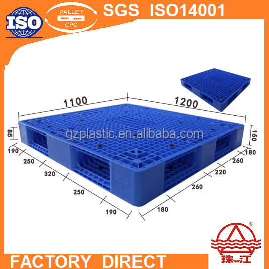 low prices plastic pp pallet 1200*1100mm grid double deck