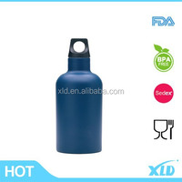 Dark blue painting Wholesale customized color promotional double wall BPA free cheap stainless steel water bottles with logo