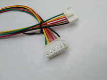 6 pin connector wire harness in18AWG UL1007