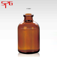 Newest Design High Quality 50ml Clip Ceramic Lid glass bottle for drink , amber chemical glass bottles , pill amber glass vials