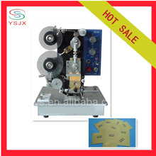 Date and batch printing machine for plastic bag