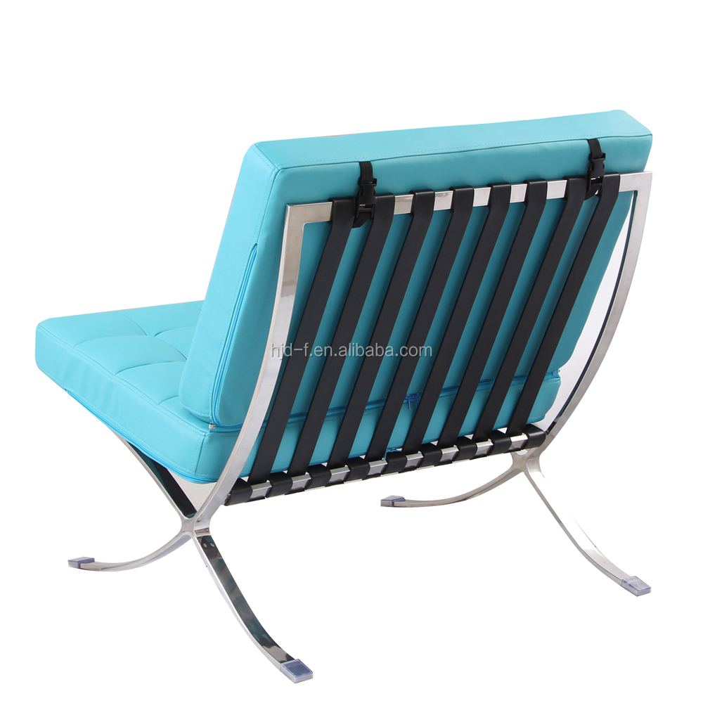 ... se-156 45.jpg ...  sc 1 st  Alibaba & Barcelona Chair In Teal Leather Barcelona Chair - Buy Stainless ...