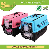 Hot selling fashion plastic dog kennels with wheels