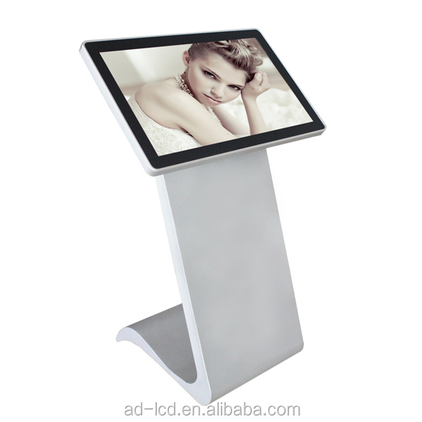 42 inch touch screen kiosk ethernet lan wifi network lcd advertising monitor