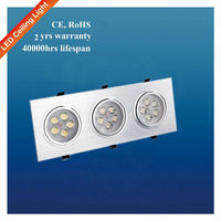 Aluminum Ceiling High Power 15W Square Led Downlights