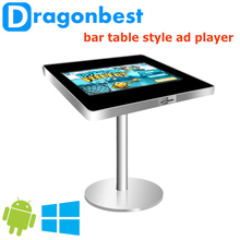 infrared advertising display 21.5 inch bar table style advertising player self service ad player touch screen kiosk best quality