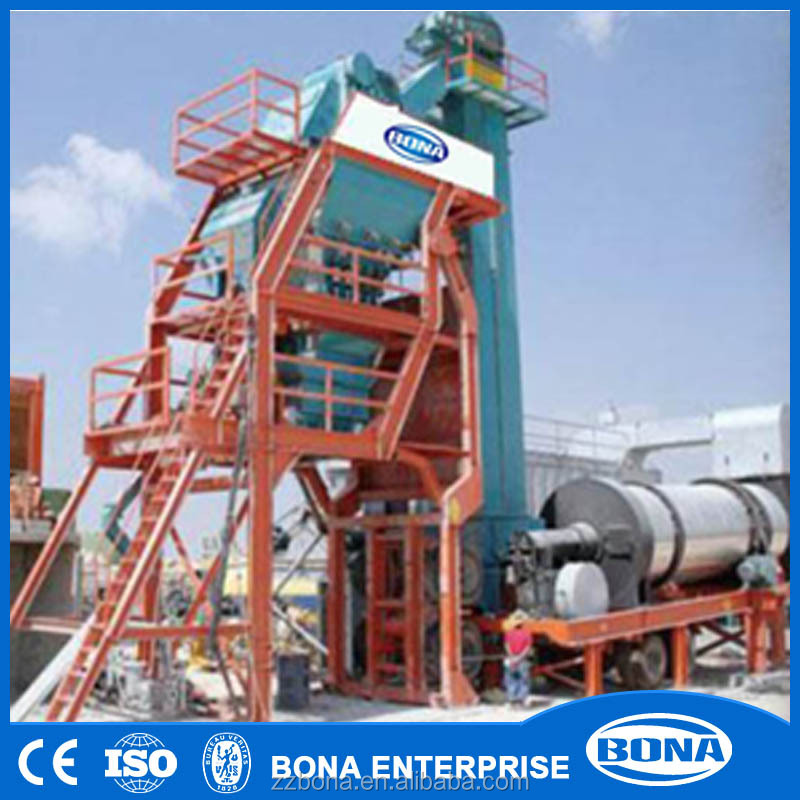 User friendly control easy start up mini mobile asphalt mixing plants