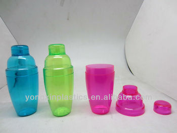 250ml plastic cocktail shaker bottle bpa free plastic shaker bottle