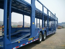 Double Floor Steel Chassis Auto Vehicle Transporter Truck Semi Trailer 2 Axle Car Carrier For Sale Philippines