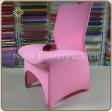 soft spandex pink wedding chair covers