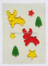 holiday decoration jelly windows sticker Gel Cling christmas ornament