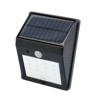 Waterproof IP65 wall mounted outdoor 16 LED Solar Lamps Garden Light Decoration wall light