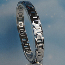 Gift high polished faceted edges tungsten carbide v care magnetic bracelet accessories wedding Parts