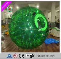 New product 2016 Green inflatable zorb ball with PVC/TPU material for sale