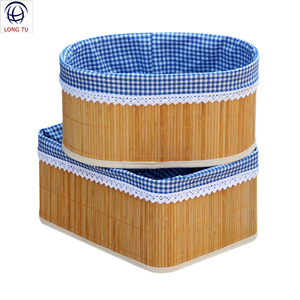 Decorative Baby Nature Oval Bamboo Empty Storage Gift Basket